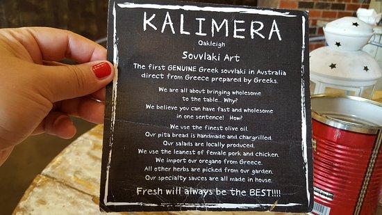 Oakleigh, ออสเตรเลีย: About Kalimera