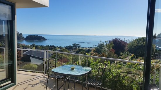 Kaiteriteri, Νέα Ζηλανδία: View from the Kowhai room over the private balcony