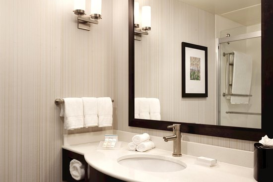 2 Queens Bathroom Picture of Hilton Garden Inn Boston Logan