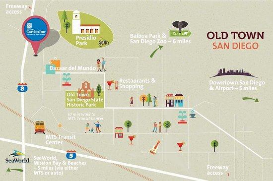 Old Town San Diego Map Picture of Hilton Garden Inn San Diego