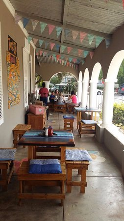 Riversdale, Sudáfrica: Coffee on the verandah
