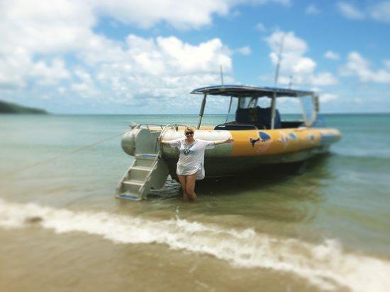 Cape Tribulation, Australia: Ocean Safari inflatable