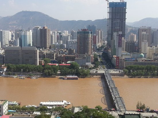 Lanzhou, China: มองภาพวิวของเมือง สวยงามมากๆ เมืองนี้ล้อมรอบด้วยภูเขา