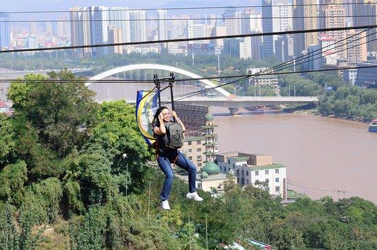 Lanzhou, China: มีบริการนั่งกระเช้าลวดสลิงแบบนี้ด้วย
