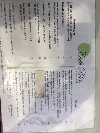 Brighton, Australia: Food Menu