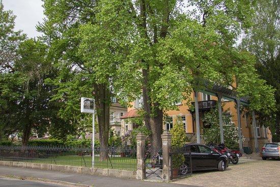Ганноверш-Мюнден, Германия: Gästehaus Musmann - Einfahrt von der Straße