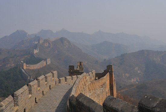 Luanping County, China: The Path of the Great Wall of Jinshanling