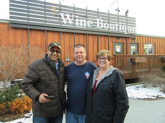 King Tours: Salim and us at Niagara on the Lake