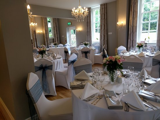 Lutterworth, UK: The Linden Tree Restaurant ready for a wedding