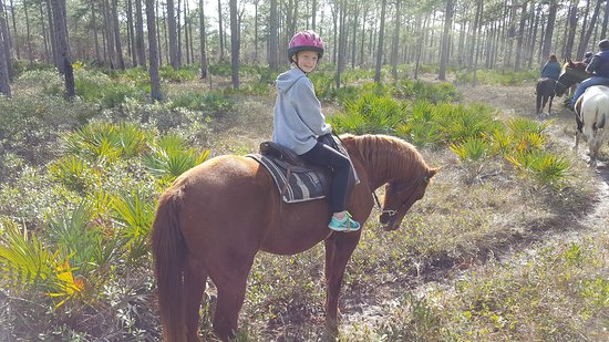 Arnett's Gulfside Trail Rides: A great time with granddaughter Ashtyn.