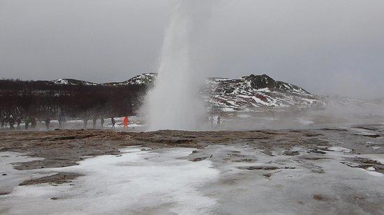 Gateway to Iceland : Strokkur geyser