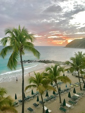 Belair Beach Hotel: The sunset view from room 411