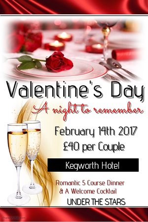 Kegworth, UK: Join us for Valentines 2017.  Call 01509 672427 to book.