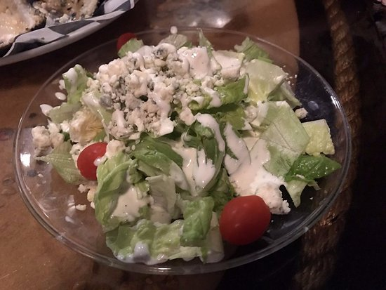 Bay Saint Louis, MS: Salad with homemade blue cheese
