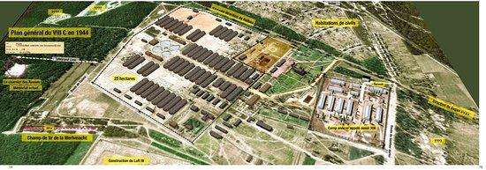 Zagan, פולין: Plan exact du stalag VIII C