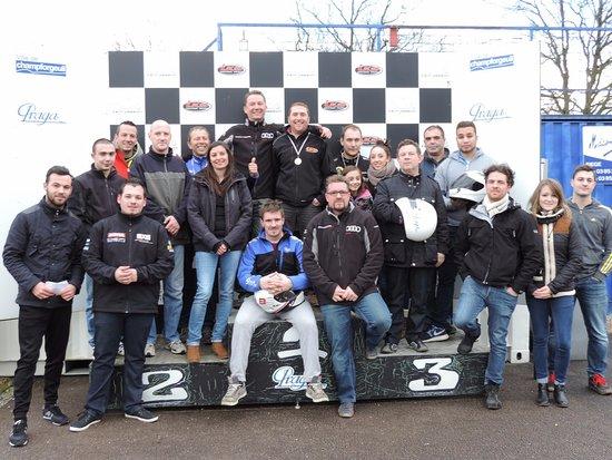Champforgeuil, Frankrike: podium