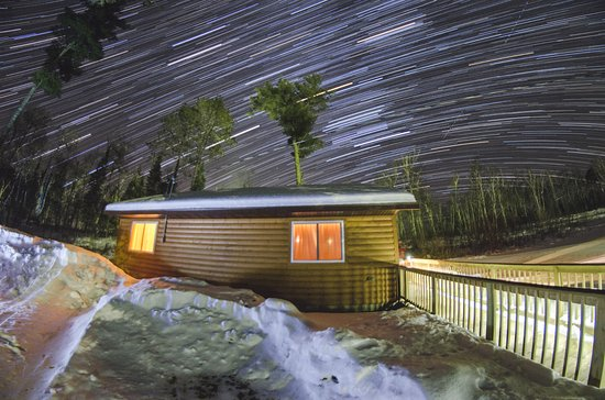 Orr, MN: This was the warm, cozy cabin we stayed in. The starry sky is a must see!