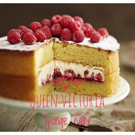 Knighton, UK: Queen Victoria sponge cake