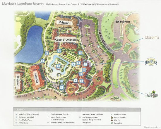 jw marriott orlando map Map Of Property Picture Of Marriott S Lakeshore Reserve Orlando jw marriott orlando map