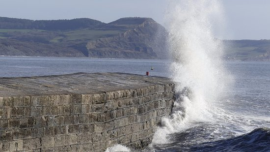 Lyme Regis, UK: It's there to protect the harbour from the waves