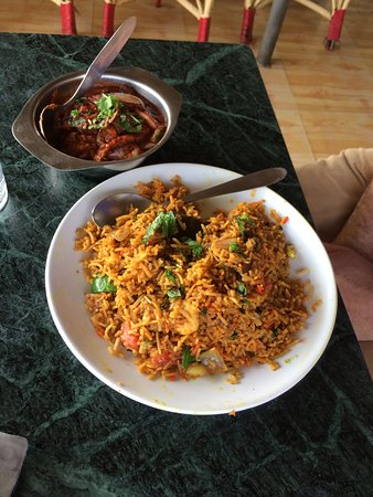 SUNRISE RESTAURANT & GUEST HOUSE: special biryani dish 28/11/16