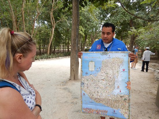 Make Your Own Tour: Before you enter the site he puts the Mayan peninsula in perspective.