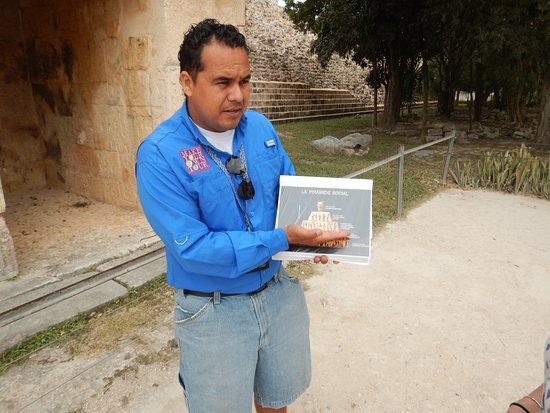 Make Your Own Tour: Nefti has his own visual aids to ensure that his guests get the full story of the site.