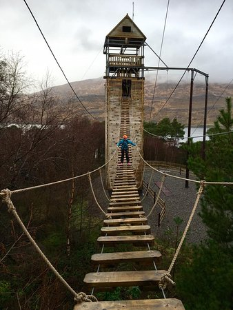 Killary Adventure Centre: Giant bridge on the ropes course!