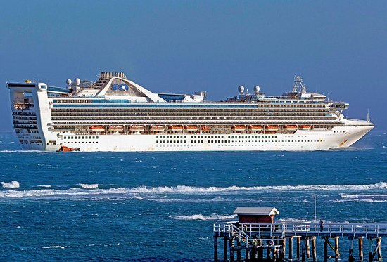 Golden Princess from Rip View Lookout Point Lonsdale.