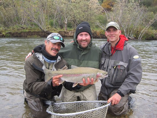 "Iliamna, AK: Rainbow Trout - 24.5"" long by 15.5"" around!"