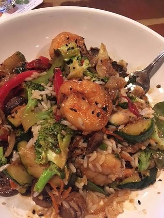 Orwigsburg, PA: shrimp stir fry and creamy coconut rice