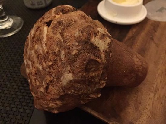 BLT Steak : Complimentary popovers with unsalted butter --warm and yummy