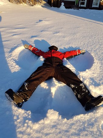 Davvi Arctic Lodge: It's got to be done - Snow Angel :)
