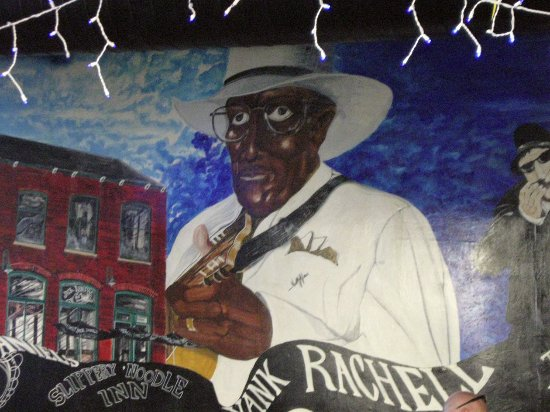 Slippery Noodle Inn: Slippery Noodle mural