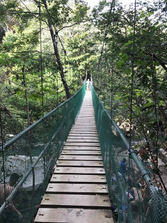Issys Tours Costa Rica: Suspension bridge to the hot springs