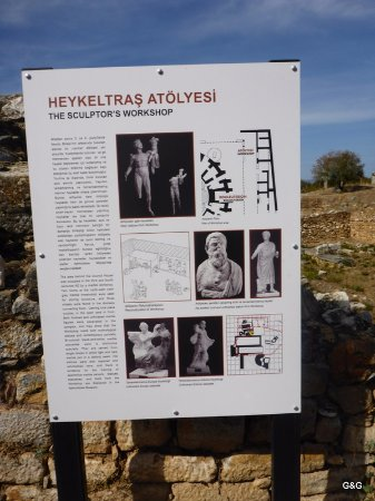 Geyre, Türkei: Visitor friendly signs everywhere