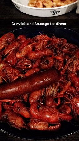 Brandon, MS: Two pounds of crawfish with a side of sausage
