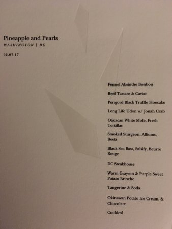 Here's the menu (because there are too many courses for me to describe them all)!