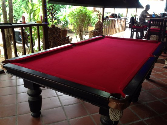 Best Pool Table In Town Picture Of The River Lodge Kampot - Red top pool table