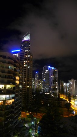 Night View Of Surfers Paradise From The Balcony Picture Of
