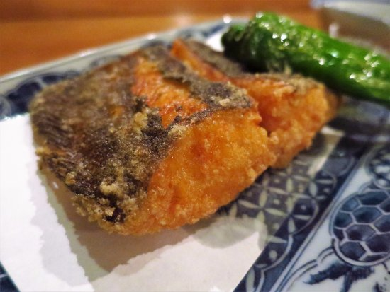 Kuji, Japan: 平目の唐揚げ / Deep-fried flounder