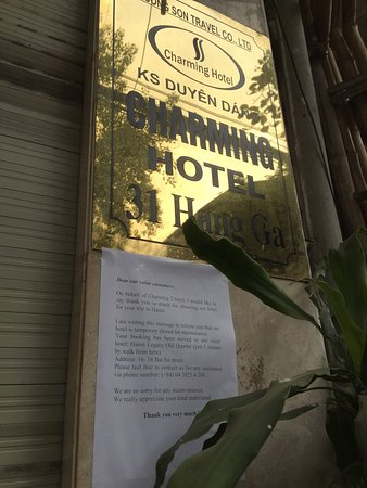 Hanoi Charming 2 Hotel: Closed with no notice