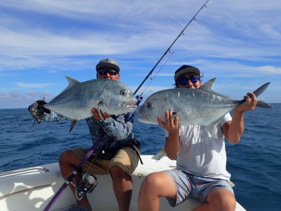 Oahu Giant Trevally popping - Picture of HI Tide Fishing
