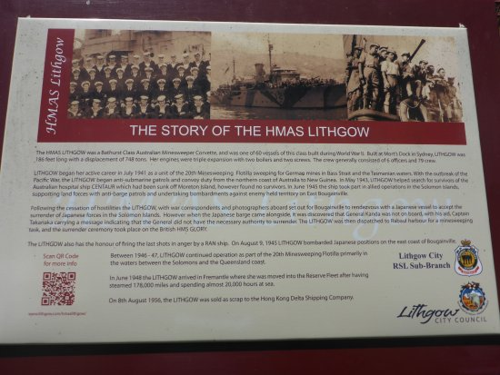 HMAS Lithgow History Board