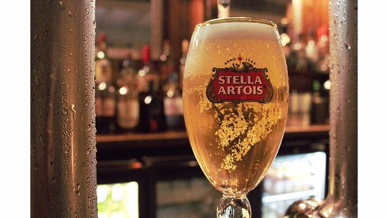 Great Bromley, UK: Stella Cidre also available.
