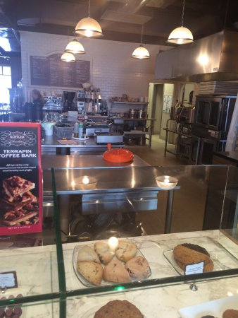 Craverie Chocolatier Cafe: A VIEW TO THE KITCHEN