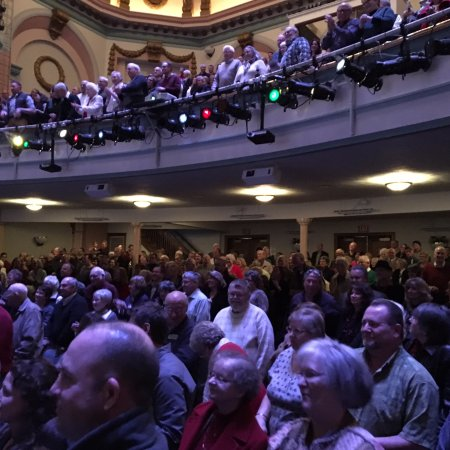 Greenville, OH: Lot of silver and flesh colored hair in the crowd! I was one.