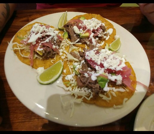 The Courtyard Cafe at the Heard Museum: Tostadas