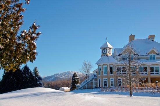 Bromont, كندا: payasage hivernal. Le chalet est ouvert à l'année pour le restaurant et les salles