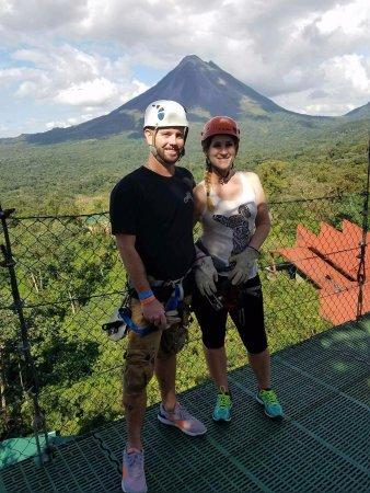 Ecoterra Costa Rica: Zip Line view of volcano